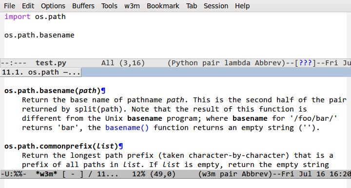 Configuring Emacs as a Python IDE - Pedro Kroger